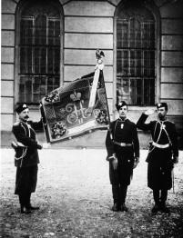Regimental Banner of the Hunters' Life Guards Regiment. Photo, 1896.