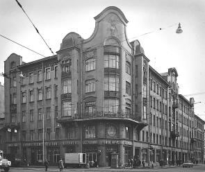 House in Vosstaniya Street, which used to house the editorial office of The Byloe journal.