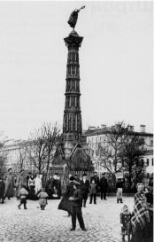 Glory Column on Izmaylovsky Avenue. Photo, late 19th century