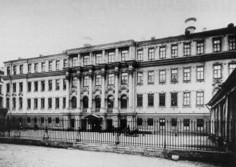 Building of Peterschule. Photo, early 20th century
