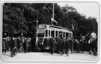 Opening of City Tramway. Photo by K.K.Bulla. 1907.