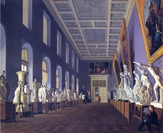 Second Antique Gallery of the Academy of Fine Arts. By G.K.Mikhailov. 1836.