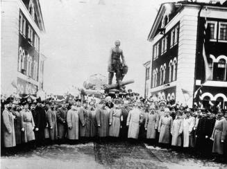 Unveiling of Monument to Peter the Great at the Arsenal Plant. Photo, 1914.