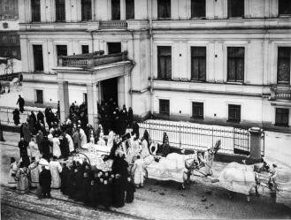 Funeral of S.Y.Vitte. Photo, 1915.