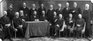 Professors of Historical Philological Department of Saint Petersburg University. Photo, October 1, 1913.